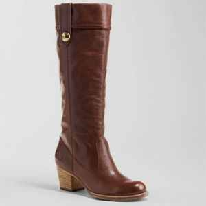 Coach Fayth Whisky Brown Leather Boot